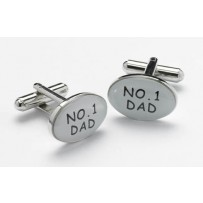 Silver and black & Silver No1 Dad Cufflinks For Men Stylish Cool