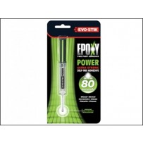 EVO STIK EPOXY POWER STRONG ADHESIVE BONDS IN 80 SECS WATER OIL HEAT RESTISTANT