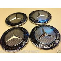 Brand New Wheel Badges For Mercedes Benz Self Adhesive 5.5cm 3D Solid Mark